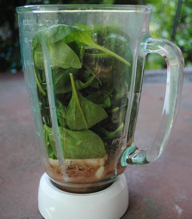 Chocolate Spinach Green Smoothie Recipe