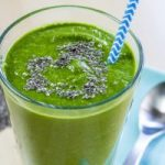 Red Carpet Ready Chia Spiked Raw Green Smoothie